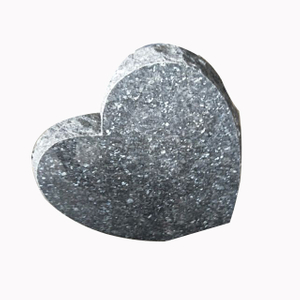 Blue Pearl Granite Heart Headstone